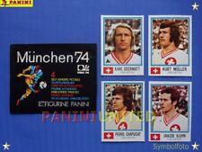 Panini★WM 1974 WorldCup WC 74★Team Schweiz komplett / Switzerland complete set