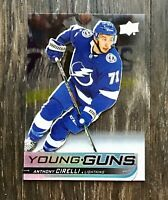 2019-20 UD Young Guns Acetate Clear Cut Anthony Cirelli -Tampa Bay Lightening RC