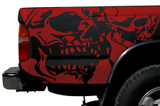 Vinyl Graphics Decal Wrap Kit fits 1995-2004 Toyota Tacoma TRD Double Skull RED