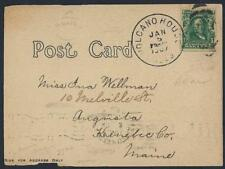 US HAWAII 1907 VOLCANO HOUSE MWI ISLE JAN 5 1907 CANCEL ON POST CARD OF LAVA CAC