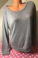 Victorias Secret NWT Long Sleeve Light Weight Sleep Shirt Small Pink Glitter