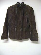 ALFANI Womens Size Small Leather Jacket Outerwear Fashion Apparel Attire Clothes
