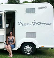 """""""Home Sweet Motorhome"""" Motorhome Vinyl Sticker / Decal, Caravan, Camper. 1 line"""