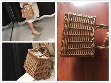 100% Handmade Wicker Bag Basket Vintage Holiday Handbag Straw Woven Women Bags