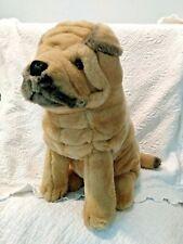 """Shar-Pei Dakin Stuffed Plush Dog Vintage Wrinkled Sharpei Pup 1986 13"""""""