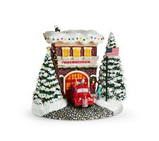 NEW 2019 Thomas Kinkade Festive Fire Station Collectible - Best Price!