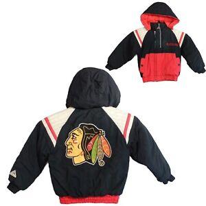 Vintage Blackhawks Genuine Stuff toddlers kids hoodie jacket nylon size M 5-6