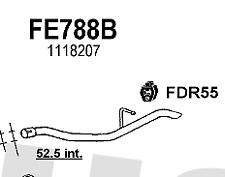 Silencer FE788B FORD Focus 1.8TDi TURBO DIESEL 00  (further details in desc)