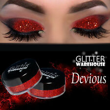 GlitterWarehouse Devious Red Holo Loose Glitter Powder for Eyeshadow Makeup