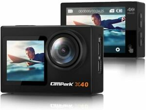 【2021 Newest】 Campark X40 Action Camera 4K Dual Screen with EIS Touchscreen...