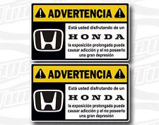 Pegatina Sticker Vinilo Adesivi Autocollant Aufkleber ADVERTENCIA HONDA N267