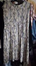 LADIES BHS DRESS, SIZE 18,yellow MULTI COLOUR PATTERN