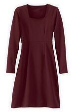 FAIR INDIGO Small S Burgundy Fair Trade Organic Square Neck Dress Organic