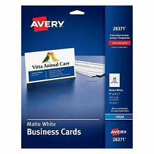 Avery Ink Jet Printer White Business Cards Design Amp Print 100 Cards