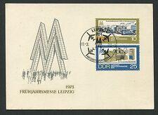 DDR MK 1973 LEIPZIGER MESSE MAXIMUMKARTE CARTE MAXIMUM CARD MC CM d292