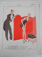 Le Sourire 1926  Pardon ! Baronne porte jartelle Print Art déco