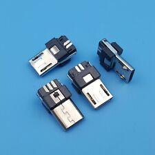 20Pcs Micro USB Type B Male 5Pin Wire Solder Plug Connector
