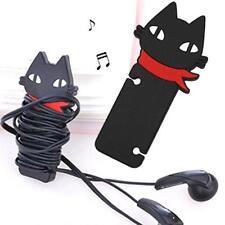 Schwarz Kopfhörer  Ohrhörer Schnur Kabel Gummi Winder Organizer verwalten