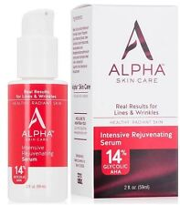 Alpha Skincare 14% Glycolic AHA Intensive Face Wrinkle, Lines, Pores Serum (2oz)
