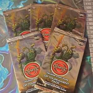 Chaotic (X5) Op Tournament Promo Sealed Packs Ccg Tcg