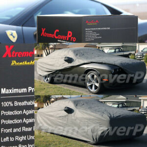 CUSTOM FIT 2016 DODGE CHALLENGER Breathable Car Cover w/Mirror Pockets - Gray