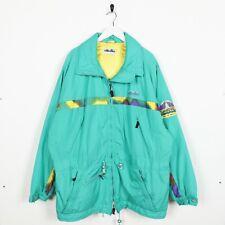 Vintage 80s ELLESSE Padded Zip Up Coat Jacket Green | XL