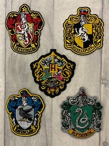 Hogwarts Harry Potter themed school houses crest Embroidered Patch