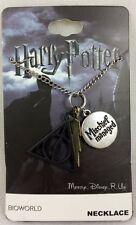 Harry Potter Hogwarts Deathly Hallows 3 Pendant Necklace Bolt Mischief Managed