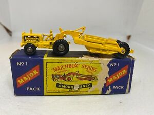 Matchbox Series Major Pack a Lesney Product M1 Caterpillar Earthmover Boxed