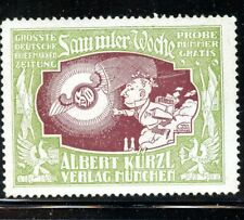 Germany EXPO Poster Stamp Albert Kurzl  Munich Newspaper Printer Week