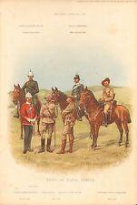 1900 Richard SIMKIN stampa militare, 148 tipi di forze Natal