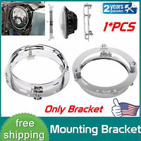 "7"" Inch LED Headlight Adapter Mounting Ring - Bracket Head Lamp Daymaker Round"