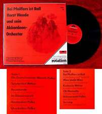 LP Horst Wende & Akkordeon Orchester: Bei Pfeiffers ist Ball (Polydor Rotation)