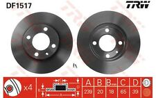 TRW Juego de 2 discos freno Antes 239mm ventilado SEAT IBIZA VOLKSWAGEN DF1517