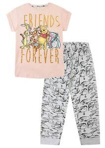 Womens Disney Winnie The Pooh Friends Forever Ladies Pyjamas Pjs