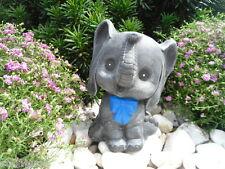 Steinfigur Elefant, Gartenfigur Gartendeko Geschenk Figur Steinguss Tierfigur