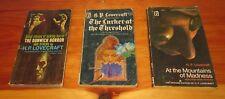 lot 3 vintage Lancer paperbacks H P LOVECRAFT Dunwich Horror / Lurker / Madness
