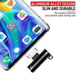 2in1 USB C Type-C to 3.5mm Headphone Jack AUX & Sync Data + Charge Cable Adapter