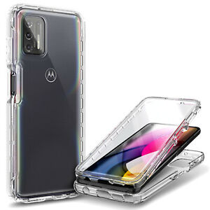 For Motorola Moto G Stylus (2021) Full Body Case with Built-In Screen Protector