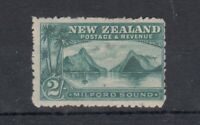 New Zealand QV 1899 2/- Blue Green Milford Sound SG269 MH J7325