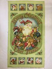 Christmas Printed Panel Jingle all the way. Nancy Halvorson Benatex 100% Cotton