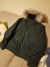 Timberland green Parka style Jacket Hooded Fur Trim XXL Waterproof Free P&P
