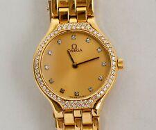 Ladies Omega Deville - 18k Yellow Gold with Diamond Bezel