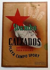 WAMBA CALZADOS. Catálogo 1936.
