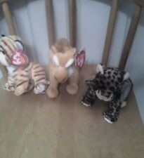 Ty beanie babies Diego, Sneaky & Tiggs - 3 new beanies - wicked awesome