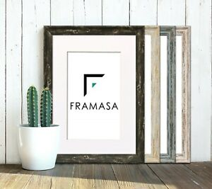 Vintage Picture Frames Photo Frame Distressed Wood Effect Wall Frame With Mounts