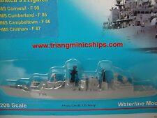 P 720 HMS Cumberland F85 1:1200 scale Tri-ang ships minic