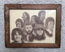 1970's Vintage Beatles Litho Poster by Chaplan 1979 Framed