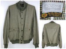 Valstar Milano Green Houndstooth Jacket  Ing Loro Piana Wool Cashmere Mens SZ 56