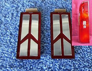 TWO NOS NEW Original 85-90 Ninety Eight Regency Tail Light Lens Emblem Ornament